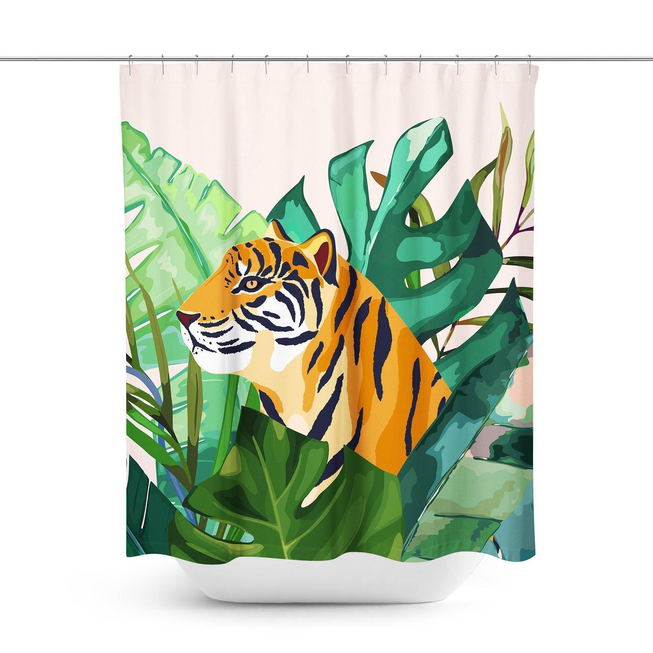 Tiger Shower Curtain Curtains This Or That Questions Prints