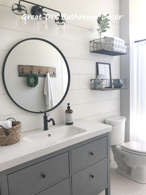 14 Very Creative Diy Ideas For The Bathroom Bathroomideas Bathroom Modern Farmhouse Bathroom Bathroom Design Small Farmhouse Bathroom Decor