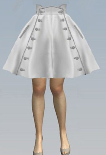 Double Button Circle Skirt by Amber Middaugh 2015