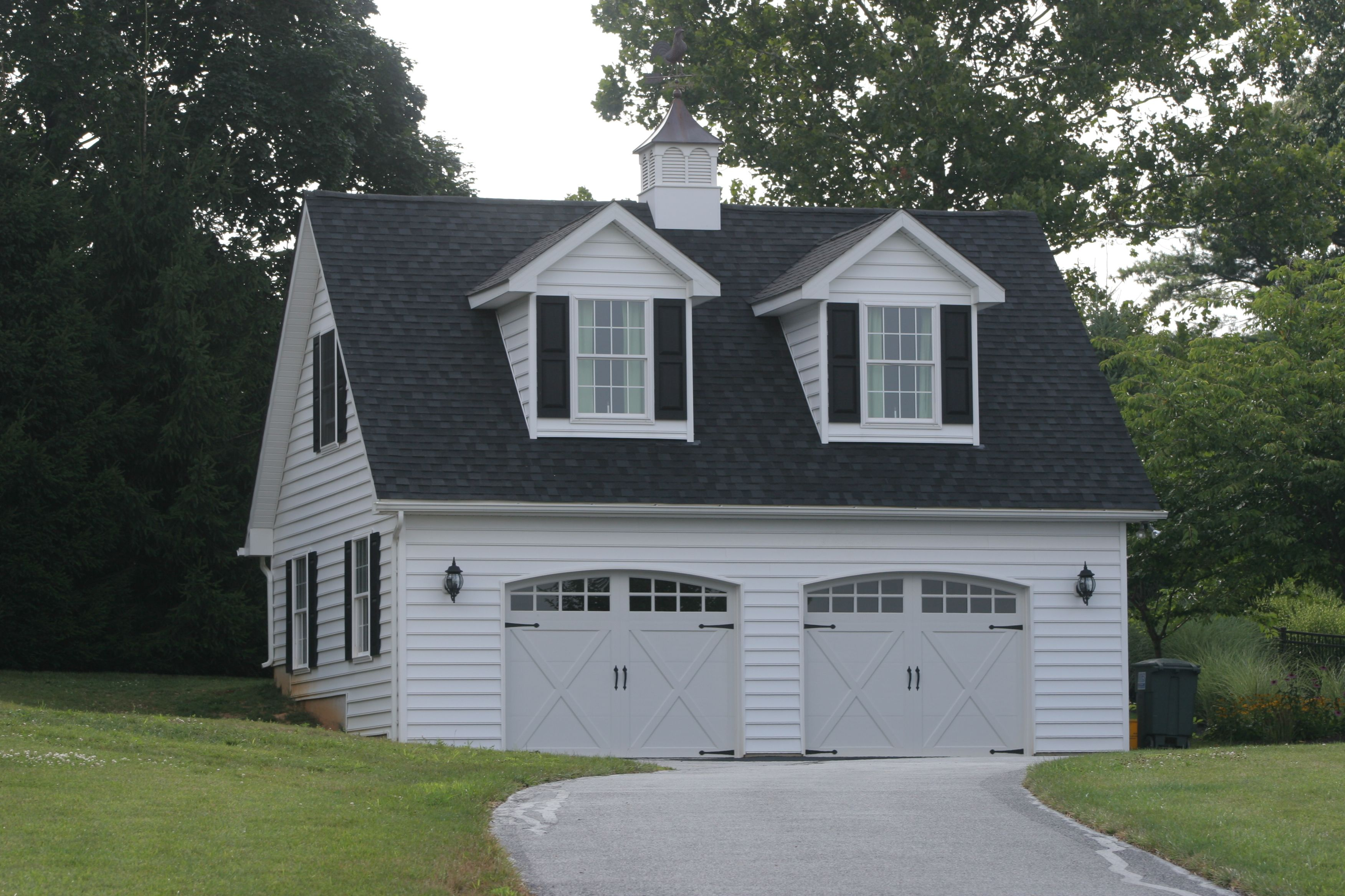 Detached two car garage in finksburg md design build for Garage md auto