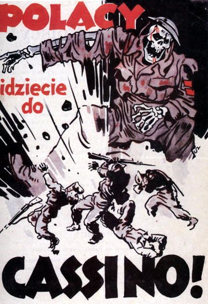 "German WW2 ""Poles, you're going to Cassino!"" The Germans are encouraging the Polish not to fight in Italy"