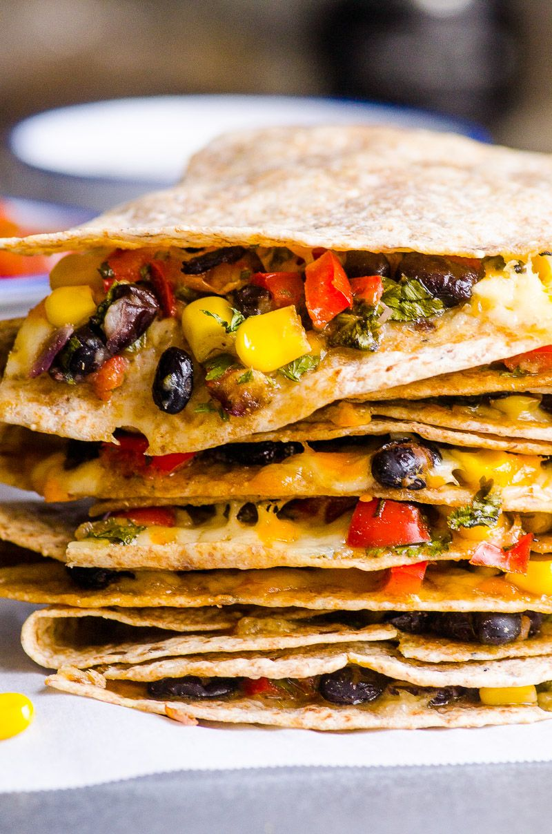 Healthy Vegetarian Quesadilla Recipe With Beans Vegetables And Moderate Amount Of Chees Vegetarian Quesadillas Recipes Veggie Quesadilla Vegetarian Quesadilla