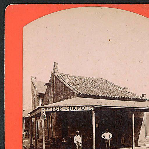 Ice Depot Dauphine & St. Phillip. ca 1880-1910