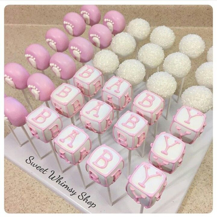 Baby Shower Cake Pops With Images Cake Pops Baby Shower Girl