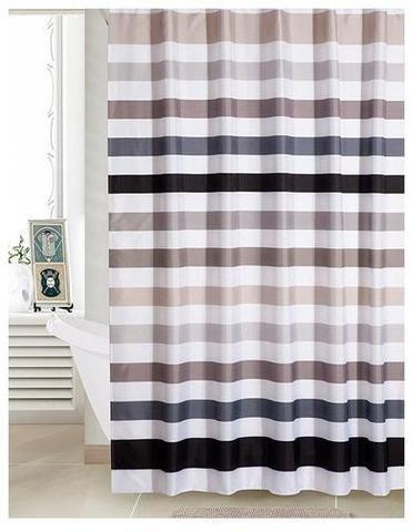 Retro Stripe shower curtain waterproof