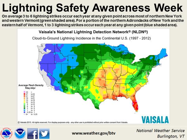 NWS Burlington on World weather, Lightning, Usa map