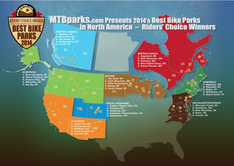 Infographic The 8 Best Bike Parks In North America Cool Bikes