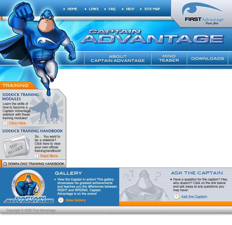 Our Comic Book Inspired Layout For First Advantage Portfolio Web Design Web Design Portfolio