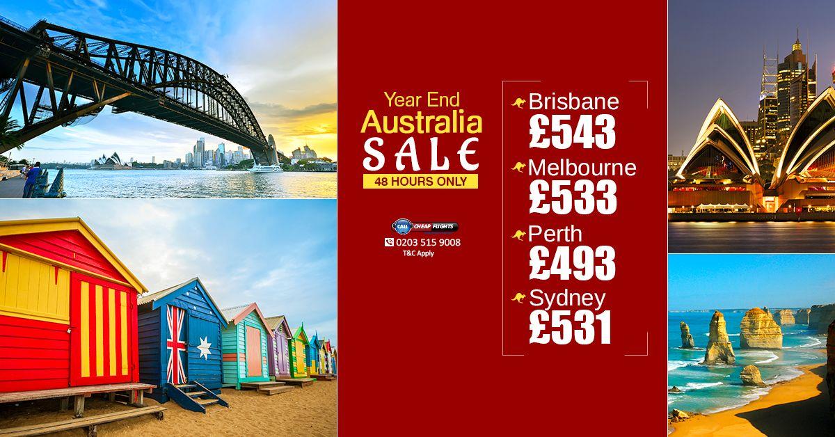 Year End Australia SALE! Brisbane £543 Melbourne £