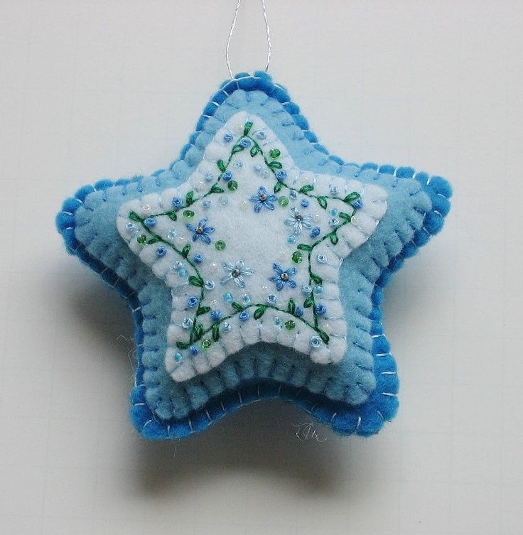 felt+ornament | Felt Embroidered Star Ornament ...