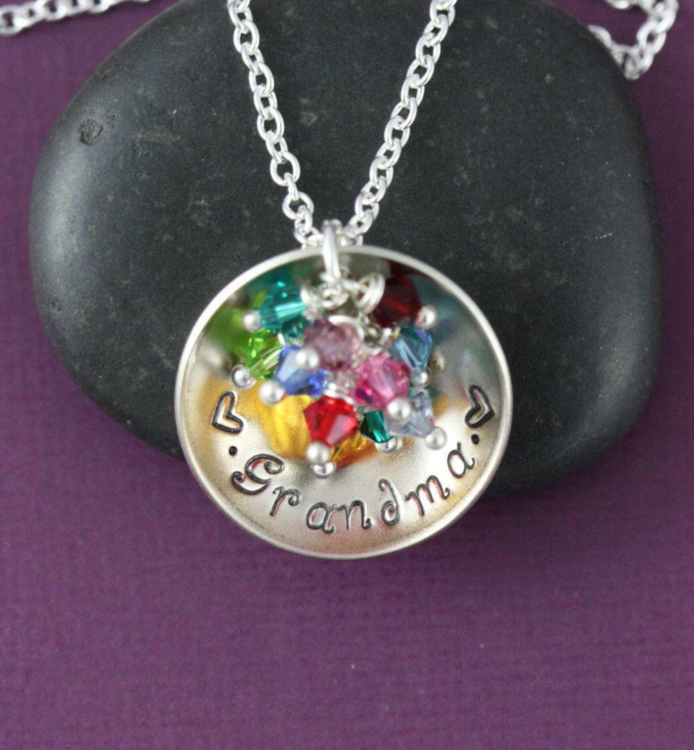 free ship grandma necklace grandma gift personalized grandma