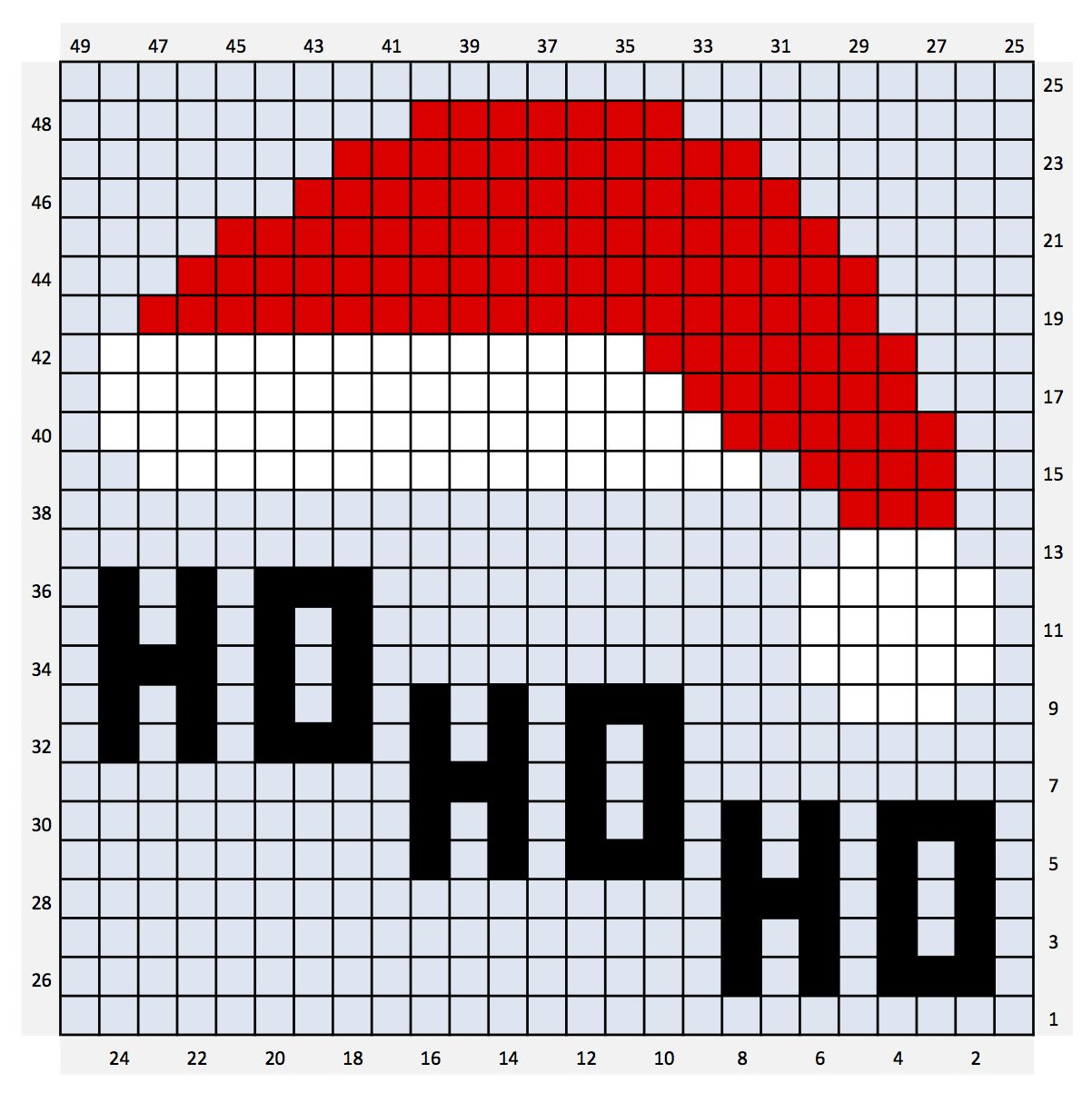 Crochet Christmas Charts And Written Colour Changes