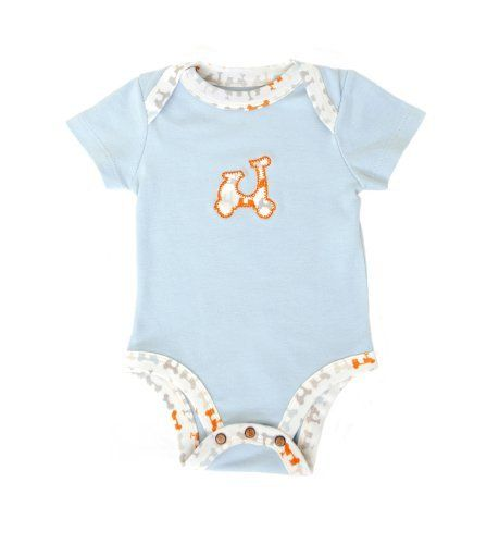 Finn + Emma Baby-boys Infant Lapshoulder Bodysuit, Light Blue by Finn + Emma