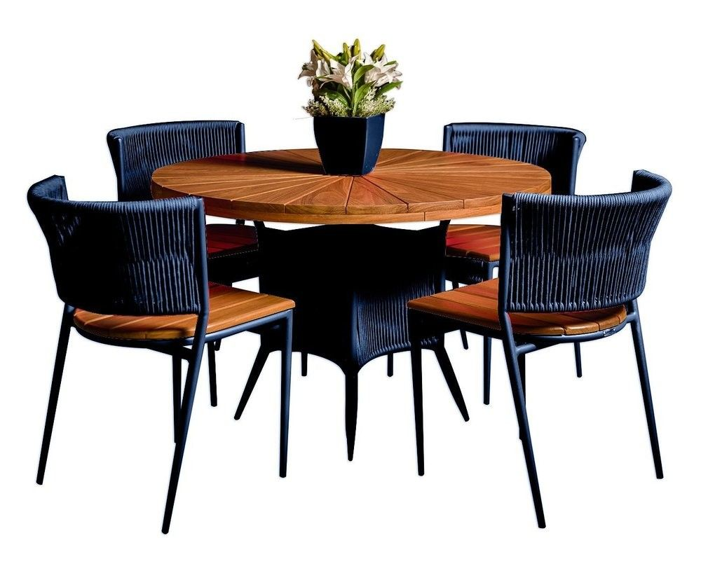 Conjunto em Corda Náutica e Madeira | Mesas e cadeiras ...