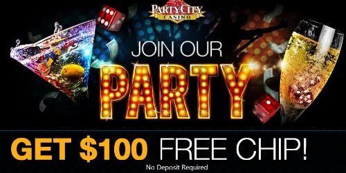 Party City Casino Welcome Bonuses 100 Free Plus 500 Bonus In