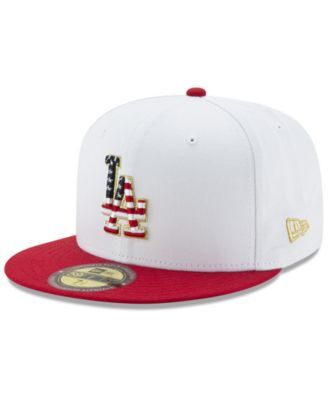 New Era Los Angeles Dodgers Americana Ultimate Patch Collection 59FIFTY Cap - White/Red 7