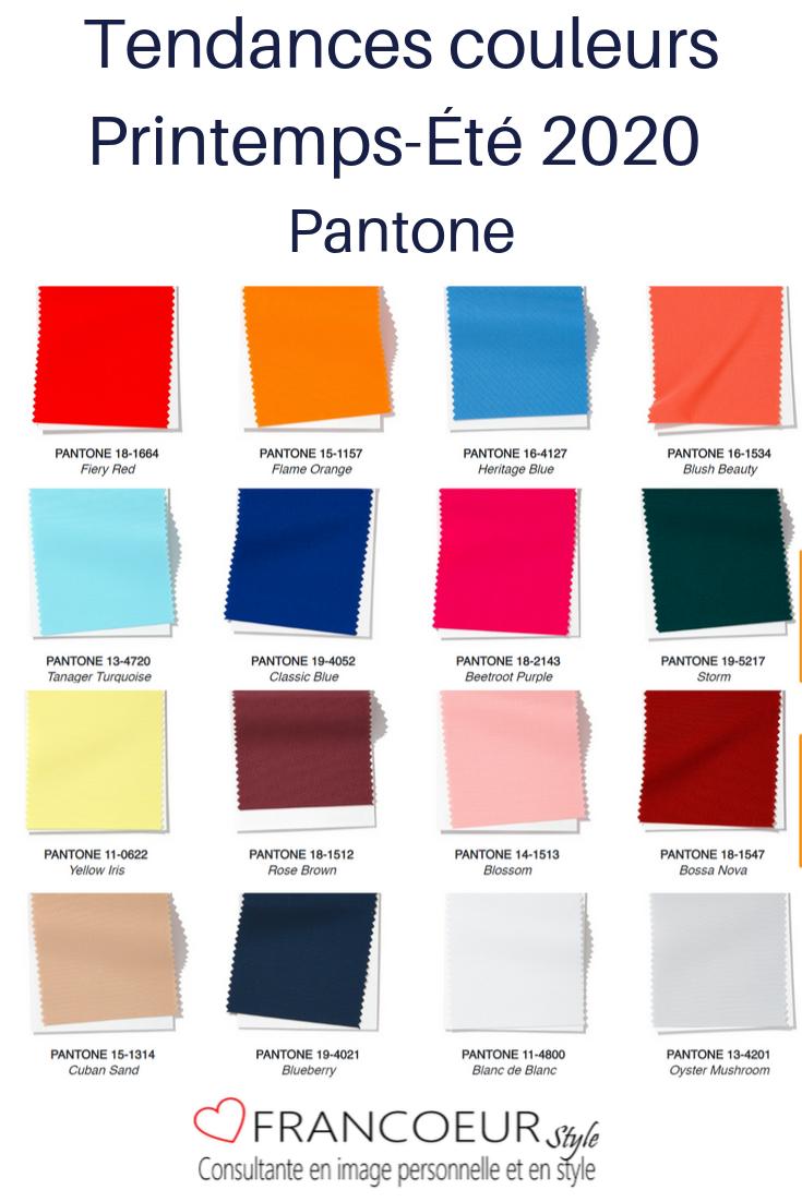 Printemps Ete 2020 Couleurs Tendances Color Trends Fashion Color Trends Spring Fashion Trends