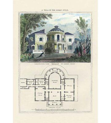 Buyenlarge A Villa in the Roman Style by Richard Brown Graphic Art