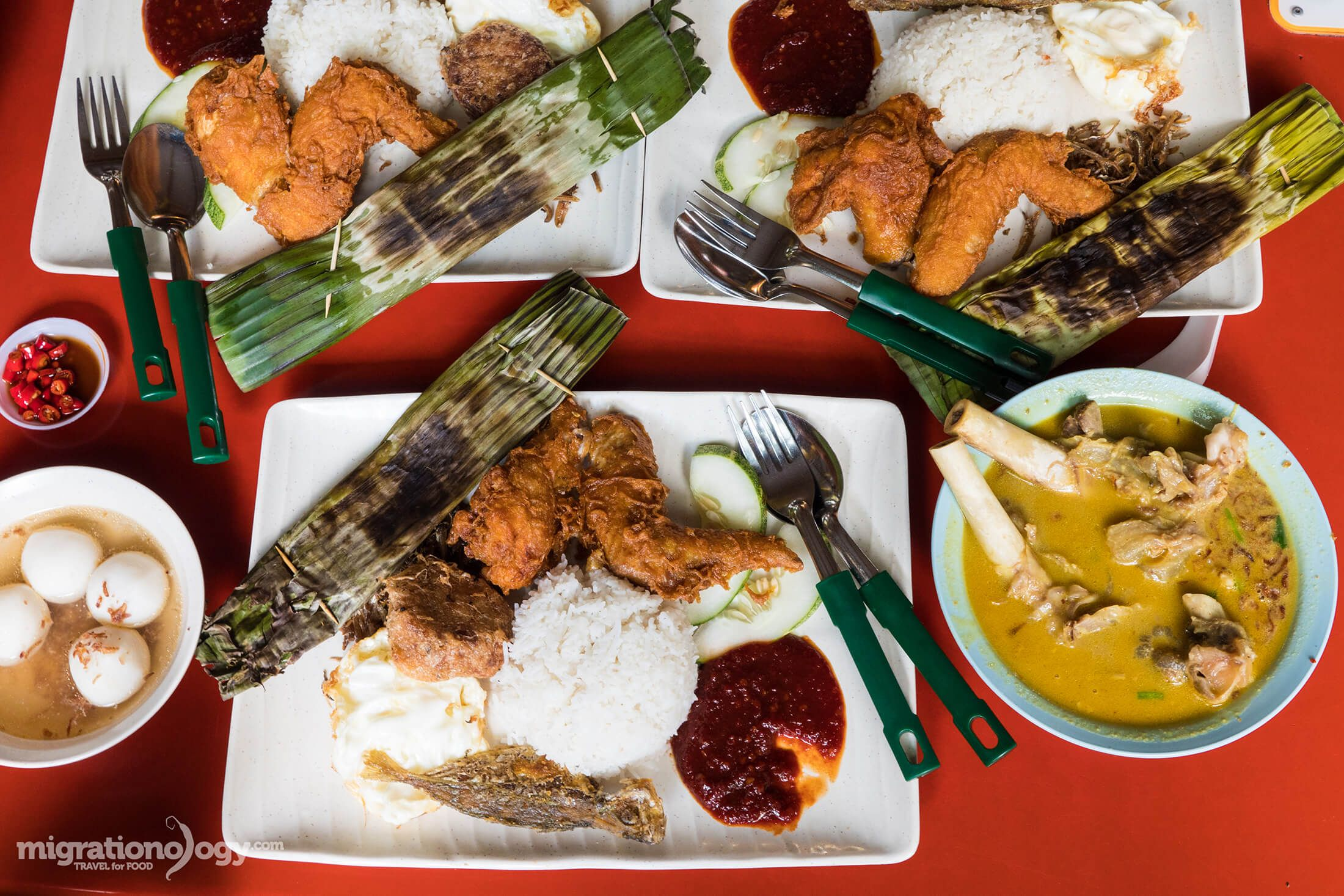 Eating the Famous Adam Road Nasi Lemak in Singapore