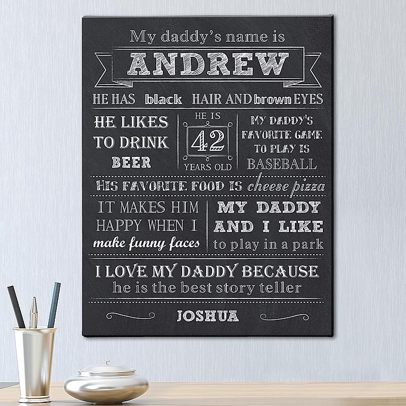 All About My Daddy Canvas | Jailyn | Pinterest | Craft