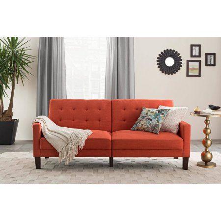 30c9fe1328168e956b468382e83157b4 - Better Homes & Gardens Porter Fabric Tufted Futon Rust Orange