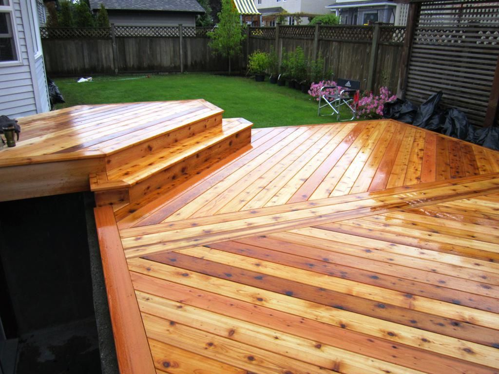 Cedar decking creates beautifully pleasing to the eyes for Cedar decks pros and cons