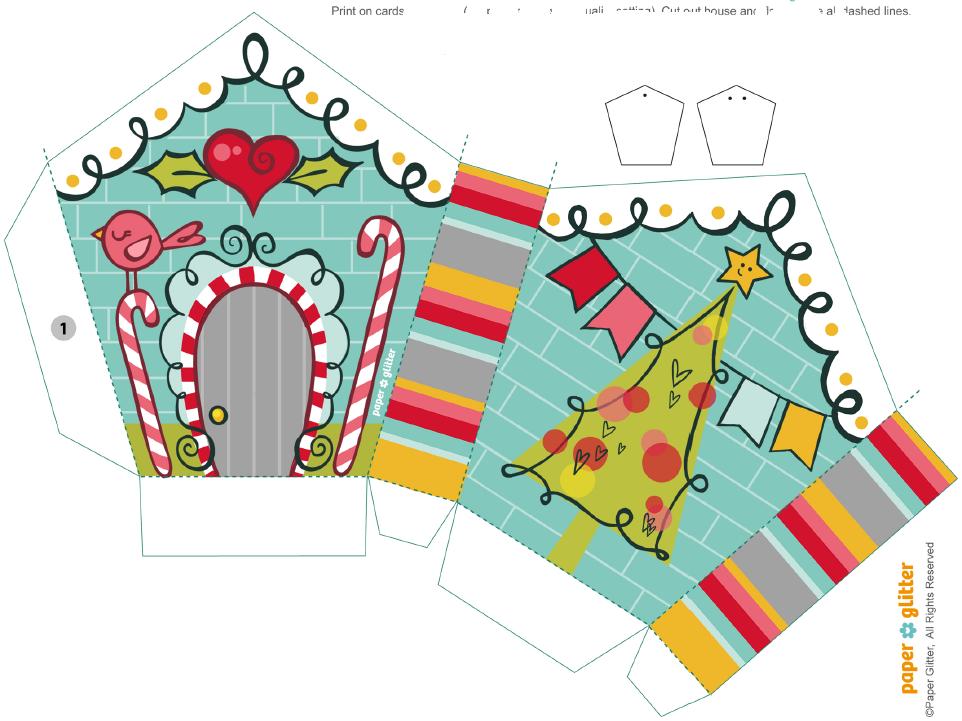 Molde De Caixinha De Natal Para Imprimir E Montar Caixas De