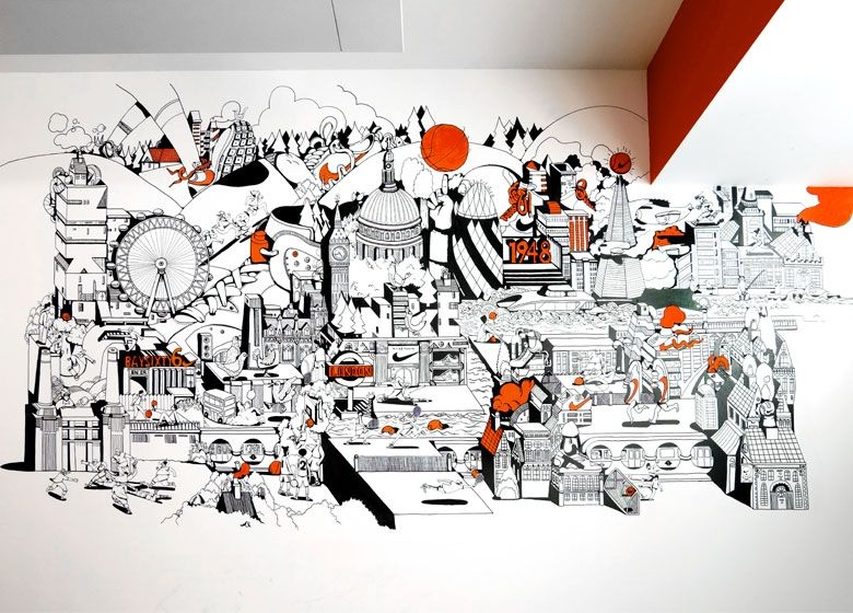 Office Tour: Inside Nikeu0027s London Offices. Office MuralOffice WallsOffice  ...
