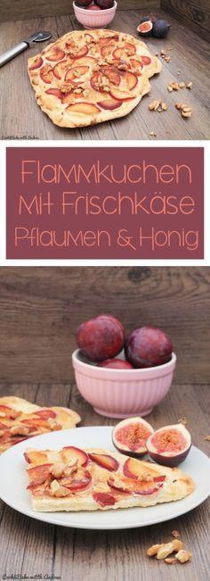 Flammkuchen mit Pflaumen, Walnüssen und Honig - C&B with Andrea #rezepteherbst