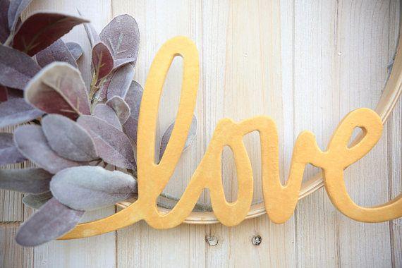 Photo of Hoop Wreath – Modern Wreath, Minimalist Wreath, Love Wreath, Farmhouse, Anniversary Gift, Birthday Gift, Wall Decor, Valentines Day, Boho,