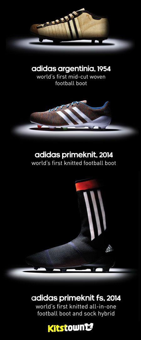 阿迪达斯发布世界首款全针织球鞋球袜一体化战靴 © kitstown.com 球衫堂
