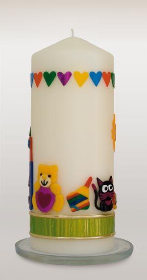 Kerze Zur Geburt Oder Zum Kindergeburtstag Kerzen Basteln