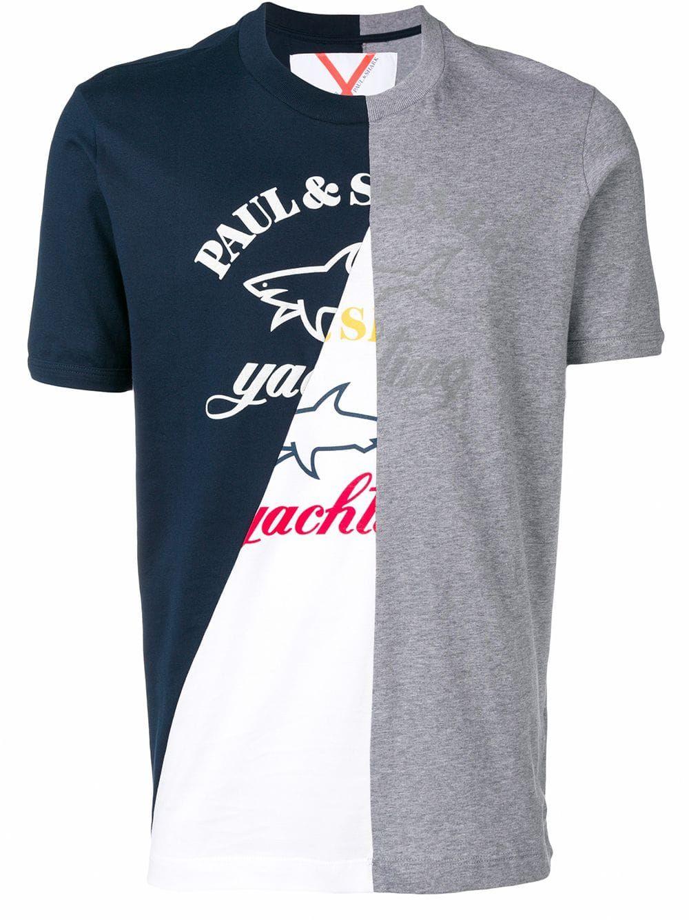 7d02a7d480d09d Paul & Shark colour-block logo T-shirt - Grey in 2019 | Products ...