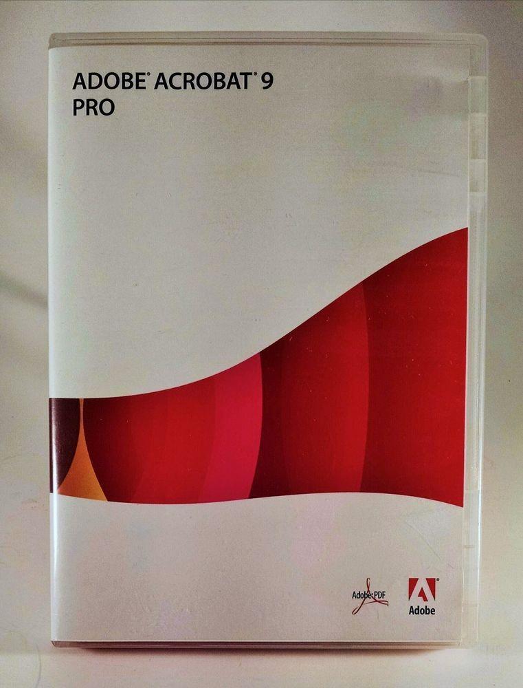 Adobe Acrobat 9 Pro Professional for Windows (includes