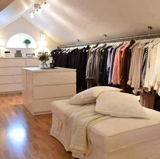 Ankleidezimmer Ankleidezimmer Https Wardrobe Decordiyhouse Com Ankleidezimmer In 2020 Attic Bedroom Designs Attic House Attic Closet