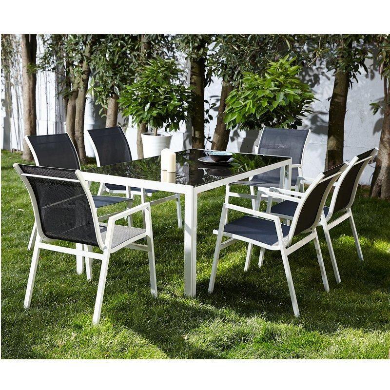 Salon de jardin en aluminium 6 places NOIR - Maison Facile : www ...