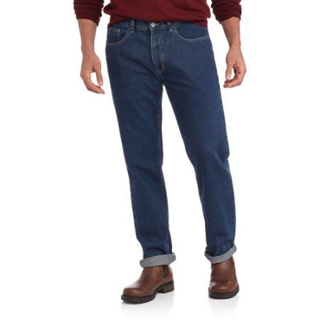 George UK Men's Straight-Leg Jeans, Size: 36 x 29, Blue