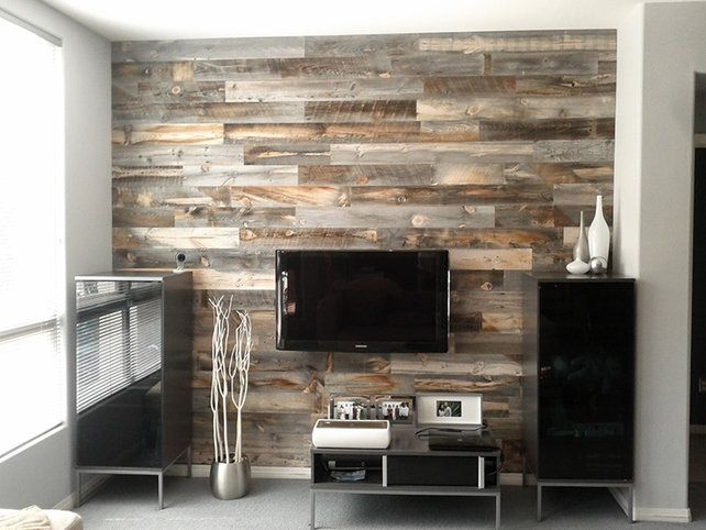 Peel And Stick Wood Panels Provide An Instant Reclaimed Look Peel And Stick Wood Weathered Wood Wood Paneling