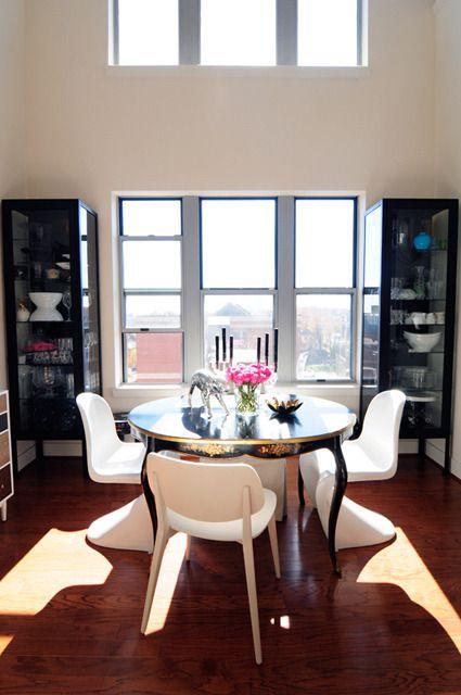Nicole U0026 Aaronu0027s Paris Inspired Loft. Credenza DecorDining Room ...