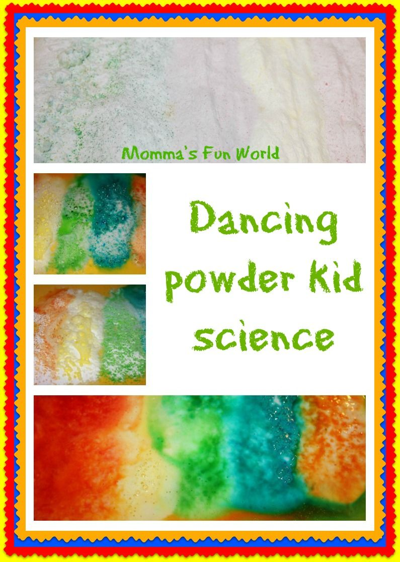 Momma\'s Fun World: Dancing powder kid science (baking soda mixed ...