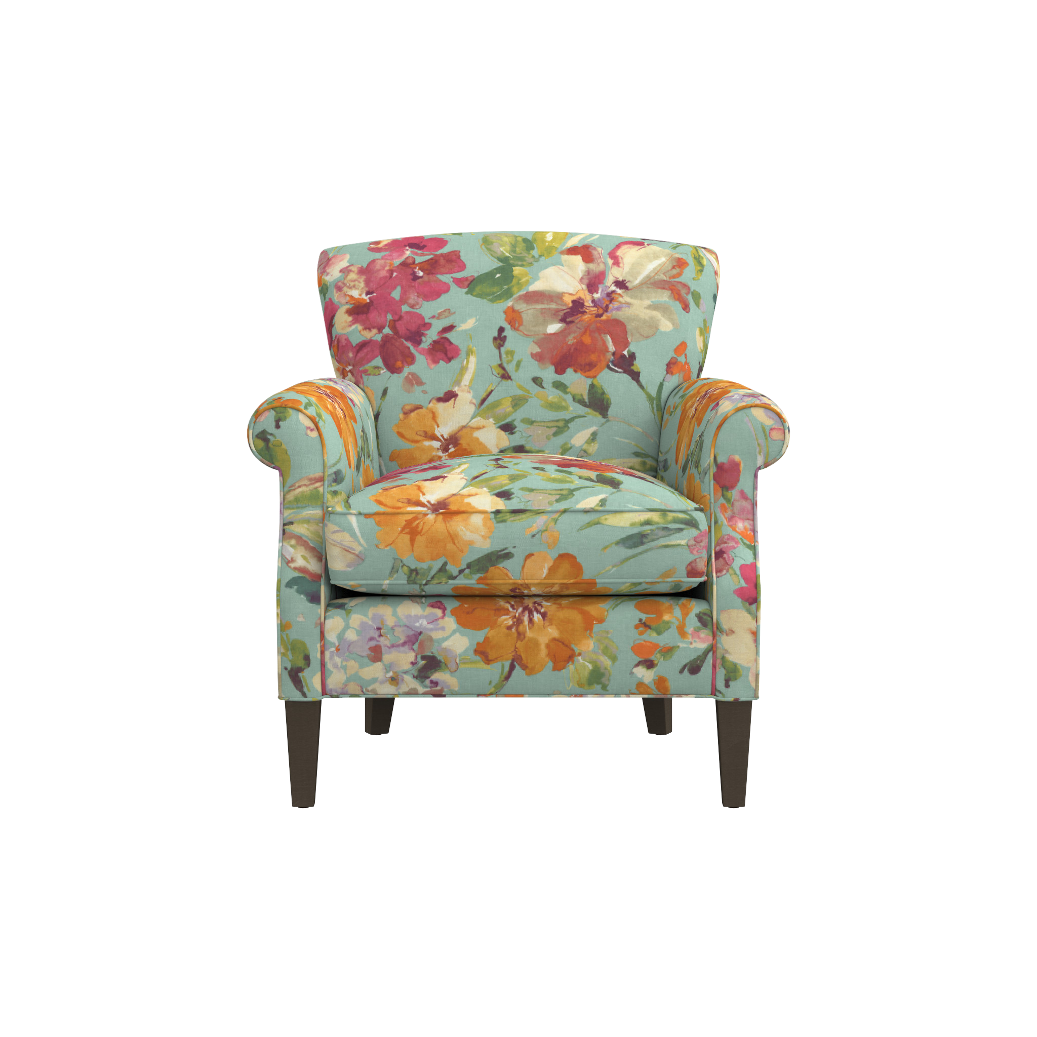 Astounding Shop Elyse Floral Accent Chair Beautiful Scaled Up Blooms Caraccident5 Cool Chair Designs And Ideas Caraccident5Info