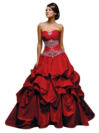 e10f295db05f Red masquerade dress with ruffles and jewels | Halloween with ...