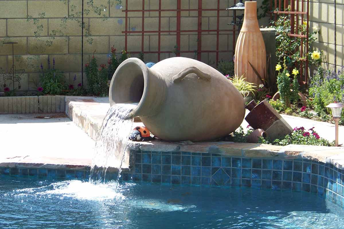 Concrete Water Fountain Pools : Special projects water features concrete fire bowls