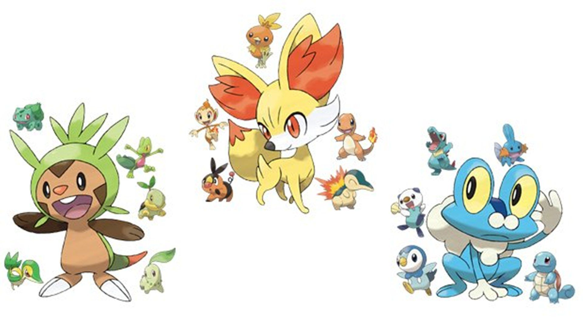 Pokemon X And Y Starter Evolutions Wallpaper Starter Evolutions