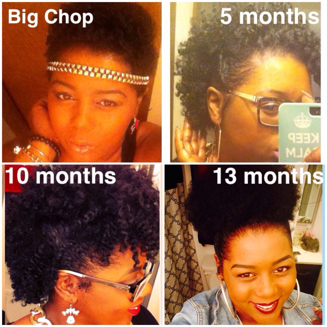 My natural hair journey. 13 months post big chop. Natural