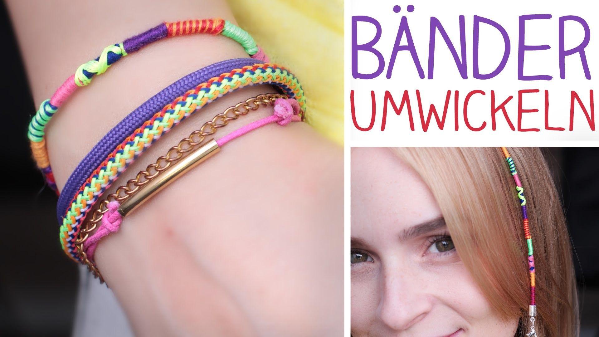 Diy Bander Umwickeln Armband Haarwickel 3 Muster Hairwrap Umwickeln Armbander Knupfen Armband