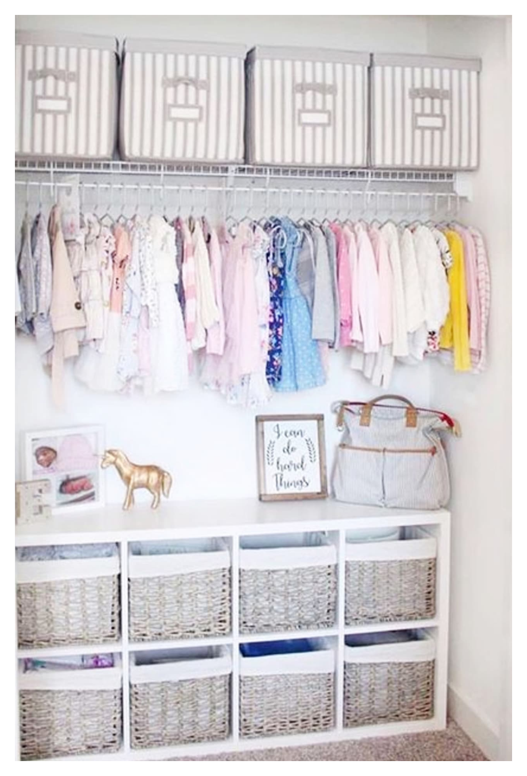 Baby Closet Ideas 47 Nursery Closet Organization Storage And Baby Closet Organizer In 2020 Baby Closet Organization Nursery Closet Organization Baby Room Organization