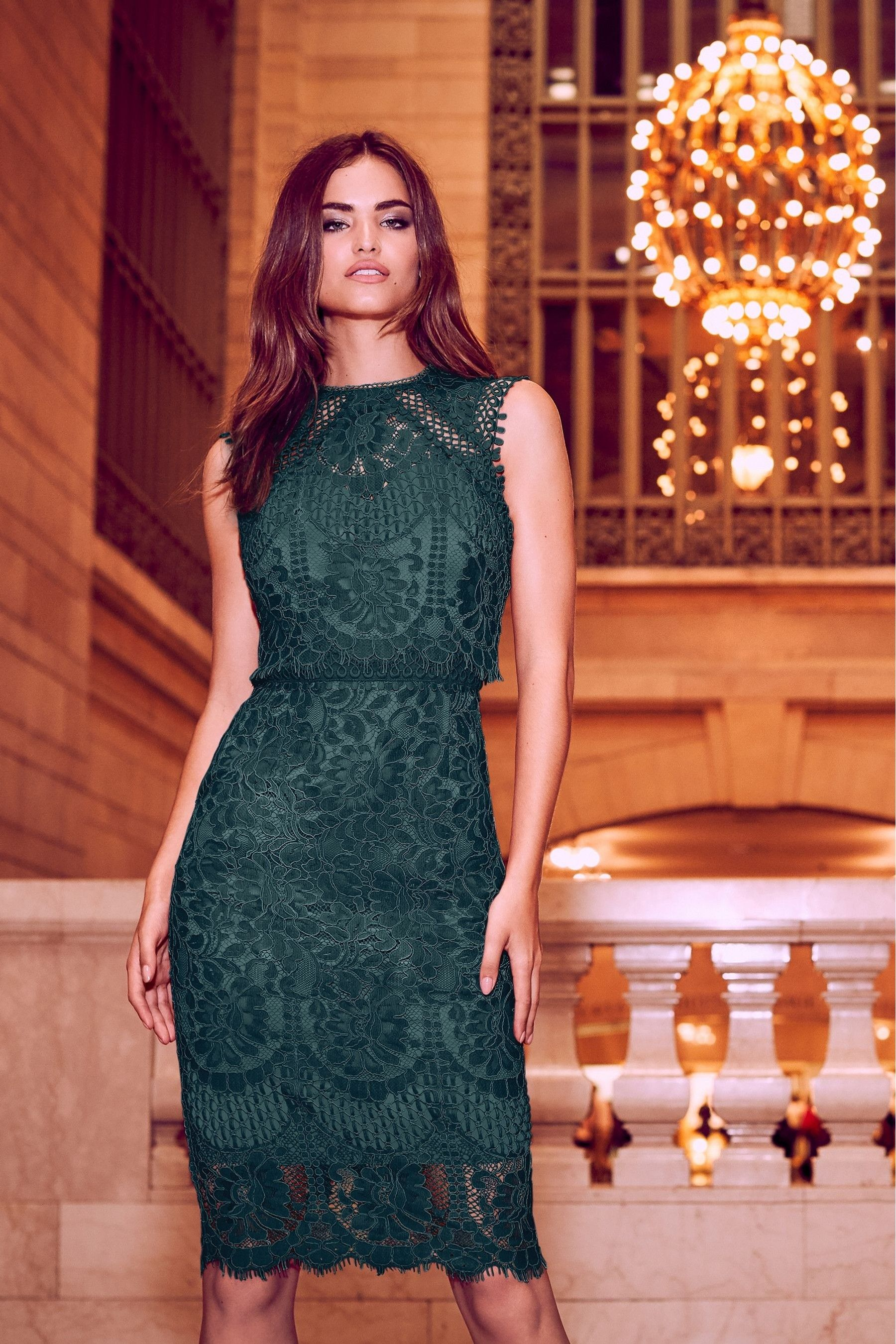 077c5a97127a Buy Lipsy VIP Lace Embroidered Midi Dress from the Next UK online shop