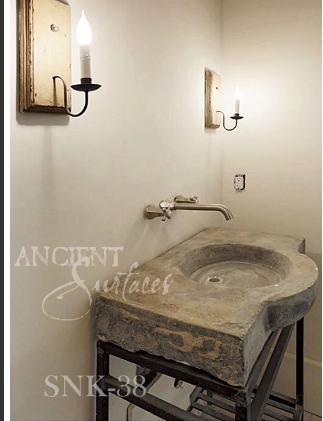 Pin By E N On Powder Room Antique Stone Sink Marble Sinks Stone Sink