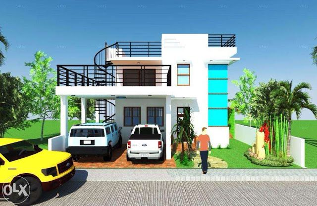 More Than 80 Pictures Of Beautiful Houses With Roof Deck House Roof Design 2 Storey House Design House Porch Design